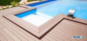 Henke Zimmerei - ThyssenKrupp Plastics GmbH: Bei WPC Dielen bleibt die feine Oberfläche trotz Witterungseinflüssen jahrelang erhalten. Und das ohne Streichen
