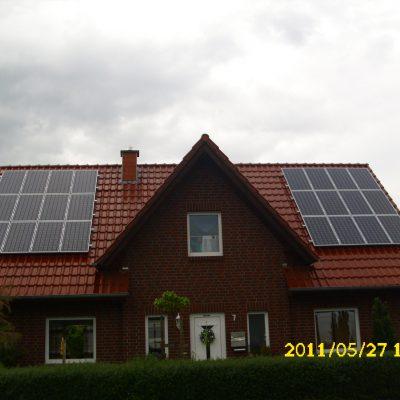 Henke Solartechnik - Photovoltaik – Anlage 4,56 kWp in Helpsen bei Stadthagen (Landkreis Schaumburg-Lippe)