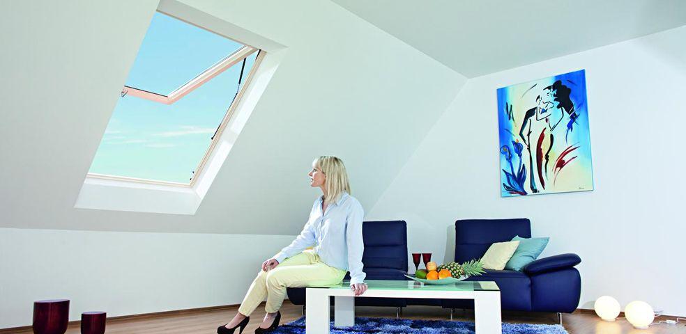 Roto Dachfenster Designo R8 Klapp-Schwingfenster