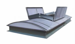 Henke Dachdecker für Minden - Multitalent esserlux® – gewölbtes Lichtband zur Belichtung, Belüftung und Entrauchung von Gebäuden