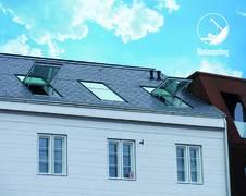 Henke Dachfenster für Stadthagen - Notausstieg: neueste Weiterentwicklung des Dachklappfensters topSwing