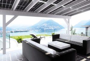 Henke Solartechnik für Minden - SOLARWATT-Solar-Terassenüberdachung