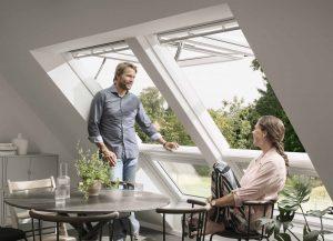 Henke Dachfenster für Rinteln - VELUX elektrische Klapp-Schwing-Fenster INTEGRA GPU